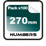27cm (270mm) Race Numbers - 100 pack